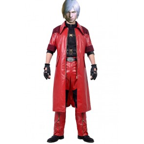 Dante Costume For Devil May Cry 4 Cosplay Uniform New Version
