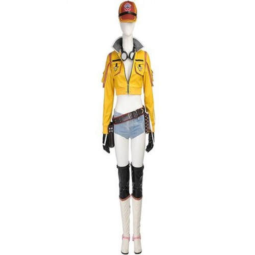 Coswinner Final Fantasy XV FF15 Cindy Aurum Costume with Boots and Goggles Cosplay Costume