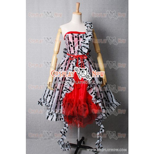 Alice In Wonderland Cosplay Alice's Um Red Court Dress