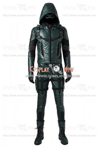 Green Arrow Season 5 Cosplay Oliver Queen Costume