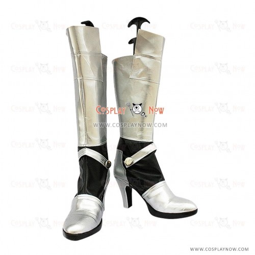 Fate Stay Night Cosplay Shoes Saber Silver  Boots