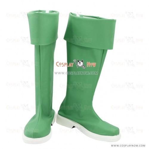 Cute High Earth Defense Club LOVE! Cosplay Shoes Atsushi Kinugawa Green Boots