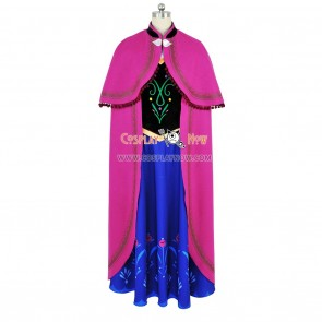 Frozen The Snow Queen Cosplay Princess Anna Costume