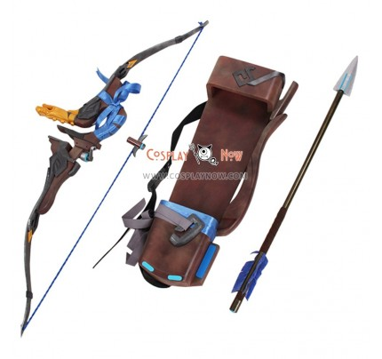 Overwatch OW Hanzo Storm Bow, Arrow and Quiver PVC Cosplay Props