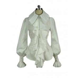 Victorian Lolita Edwardian Steampunk Blouse Punk Lolita Dress White