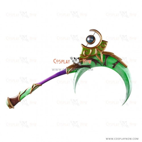 World of Warcraft Scythe of Elune Lunarcall Green Cosplay Props for Halloween