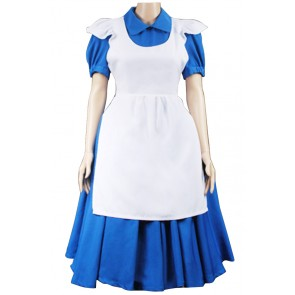 Alice In Wonderland Alice Cosplay Costume Blue