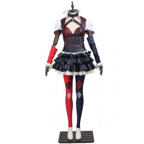 Batman Arkham Knight Harley Quinn Cosplay Costume Uniform
