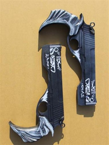 Devil May Cry Dante Ebony & Ivory Double Weapons Cosplay PropS