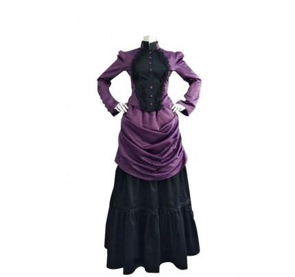 Victorian Lolita French Bustle Formal Gothic Lolita Dress Purple