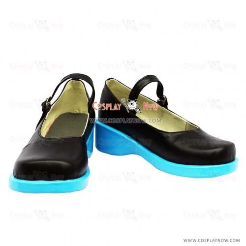 Vocaloid Miku Black Cosplay Shoes Custom Made
