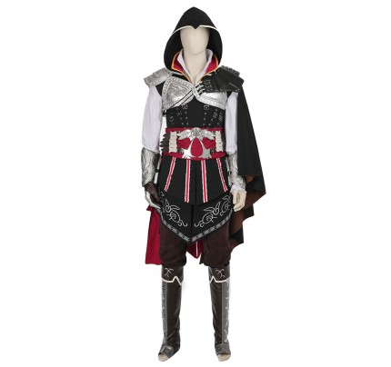 Ezio Auditore da Firenze Costume For Assassin's Creed II Cosplay Uniform Black