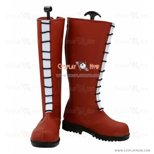 Hunter X Hunter Cosplay Shoes Allca Zaoldyeck Red Boots