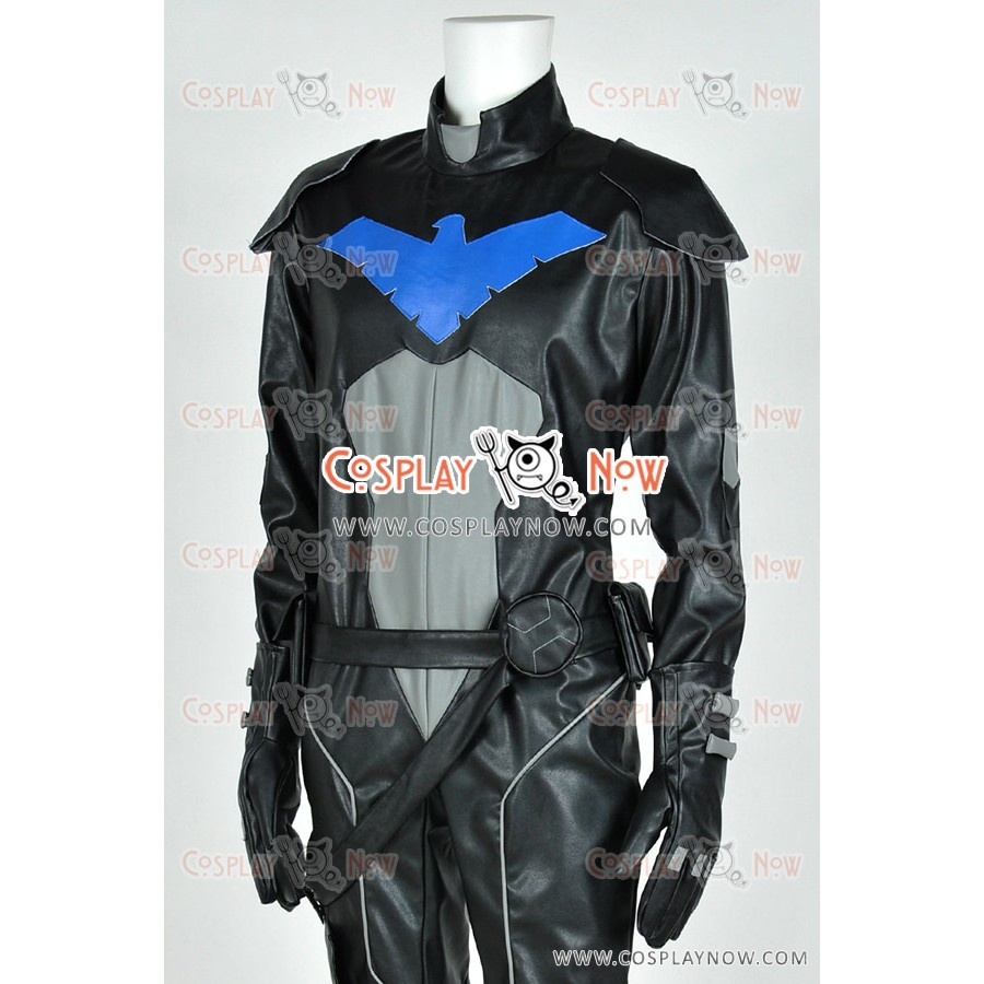 Young Justice Cosplay Nightwing Costume Jumpsuit Uniform Outfit Black Version