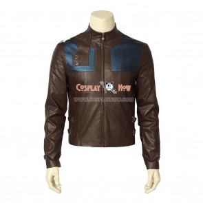 Krypton Cosplay Costume Seg-El Costume Brown Jacket