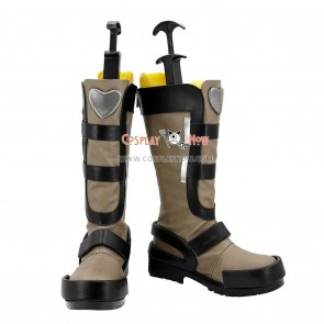 Yu-Gi-Oh! Yugioh 5D's Cosplay Shoes Crow Hogan Brown Boots