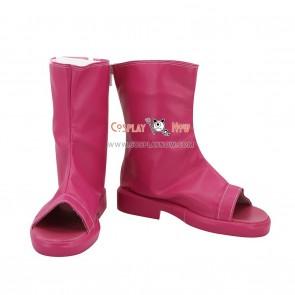 Naruto Cosplay Shoes Himawari Uzumaki Pink Boots