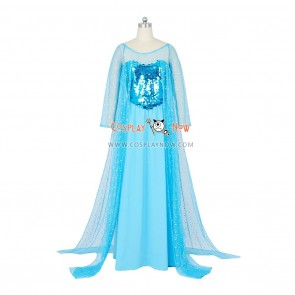 Frozen Cosplay Princess Elsa Costume Blue Dress