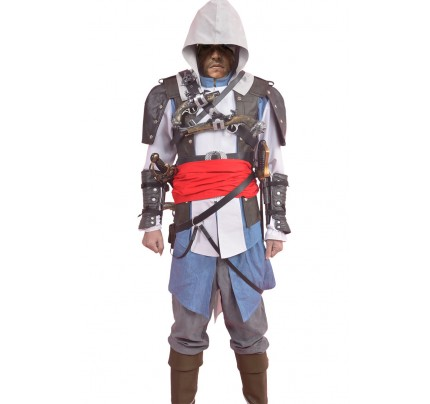 Assassins Creed 4 IV Black Flag Cosplay Edward James Kenway Costume