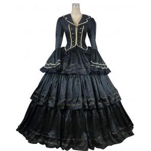 Civil War Victorian Brocade Ball Gown Reenactment Theater Lolita Dress Costume