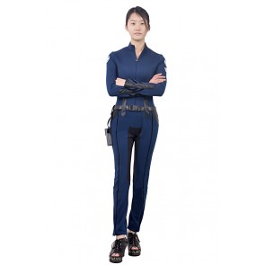 Maria Hill Costume For S.H.I.E.L.D. Agent Cosplay Jumpsuit