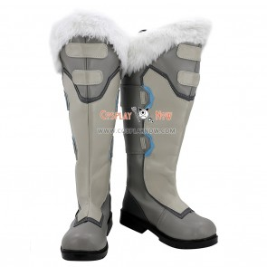 Overwatch Cosplay Shoes Dr. Mei Ling Zhou Grey Boots