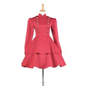 Lolita Dress Victorian Lolita Steampunk Military Coat Gothic Cosplay Costume