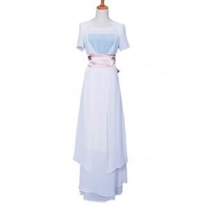 Titanic Rose Cosplay Costume White Dress