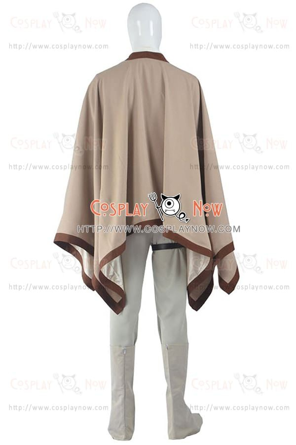 luke skywalker outfit costume for star wars cosplay cape