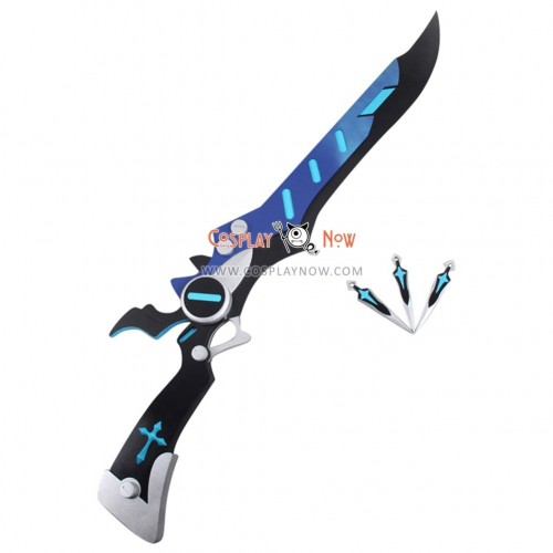 ELSWORD Dread Lord Gunblade and Knives PVC Replica Cosplay Props