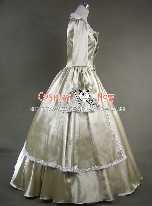 Marie Antoinette Victorian Gold Dress Evening Gown