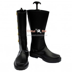 Black Butler Cosplay Shoes Ciel's Black Buttoned Boots
