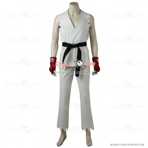 White outfit Street FighterRyuCosplay Costume for man