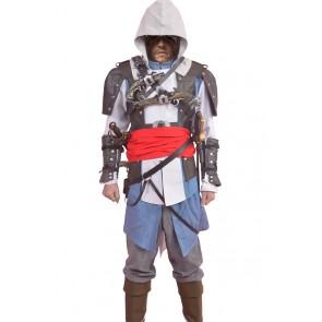 Assassins Creed 4 IV Black Flag Cosplay Edward James Kenway Costume
