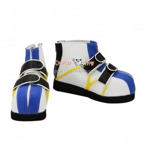 Kingdom Hearts 1 Riku Blue And White Cosplay Shoes