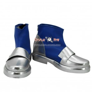 Fate Stay Night Lancer Silver & Blue Cosplay Shoes