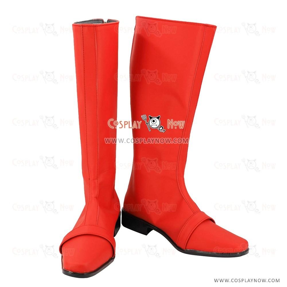Bakuryu Sentai Abaranger Ryouga Hakua Aba Red Cosplay Shoes Men Boots