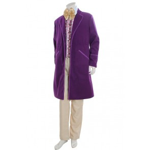 Willy Wonka Costume For Charlie And The Chocolate Factory Cosplay