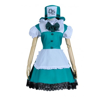 Alice In Wonderland Mad Hatter Cosplay Dress