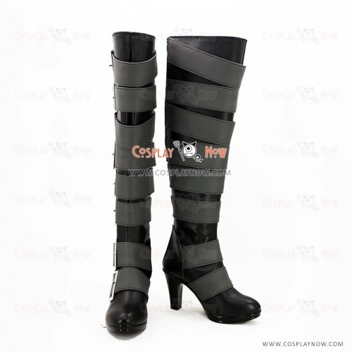 Black Butler Cosplay Shoes Undertaker Boots