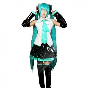 Vocaloid 3 Hatsune Miku Cosplay Costume Uniform Dress