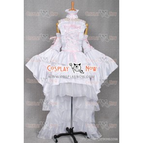 Chobits Cosplay Chi White Dress Costume