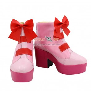 Pretty Cure Smile PreCure Hana Nono Cure Yell Pink Red Cosplay Shoes