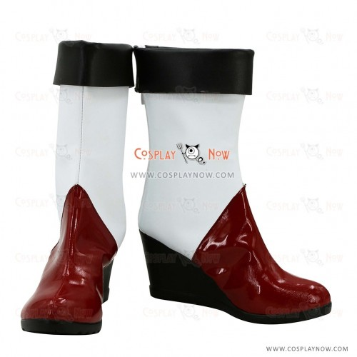 BlazBlue Cosplay Shoes Litchi Faye-Ling Boots