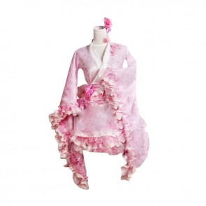 Lolita Kimono Dress Cosplay Costume Hibiscus mutabilis L