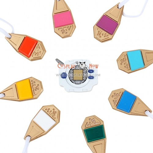 Digital Monster Necklaces and Digivice PVC Cosplay Props