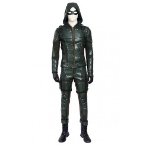 Green Arrow Oliver Queen Costume For Green Arrow Season 5 Cosplay Uniform