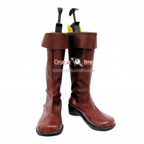 Mobile Suit Gundam 00 Cosplay Shoes Dark Brown Boots