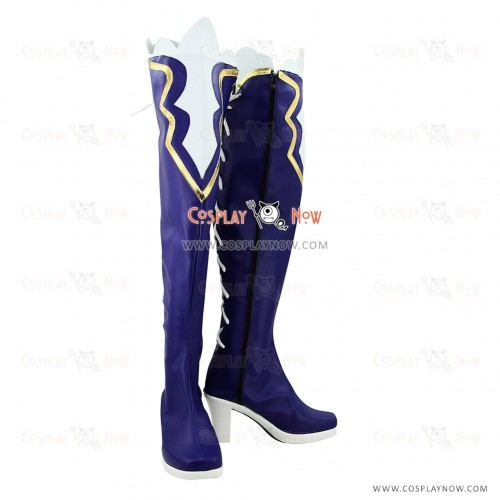 Hyperdimension Neptunia Cosplay Shoes Noire/Black Heart Blue Boots