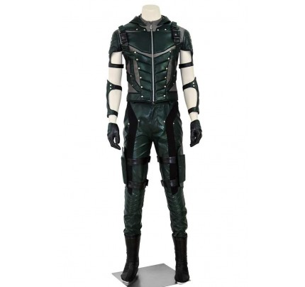 Oliver Queen Costume For Green Arrow Season 4 Cosplay